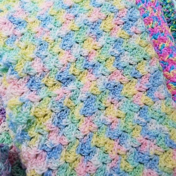 Na Other New Hand Crocheted Rainbow Baby Afghan Poshmark